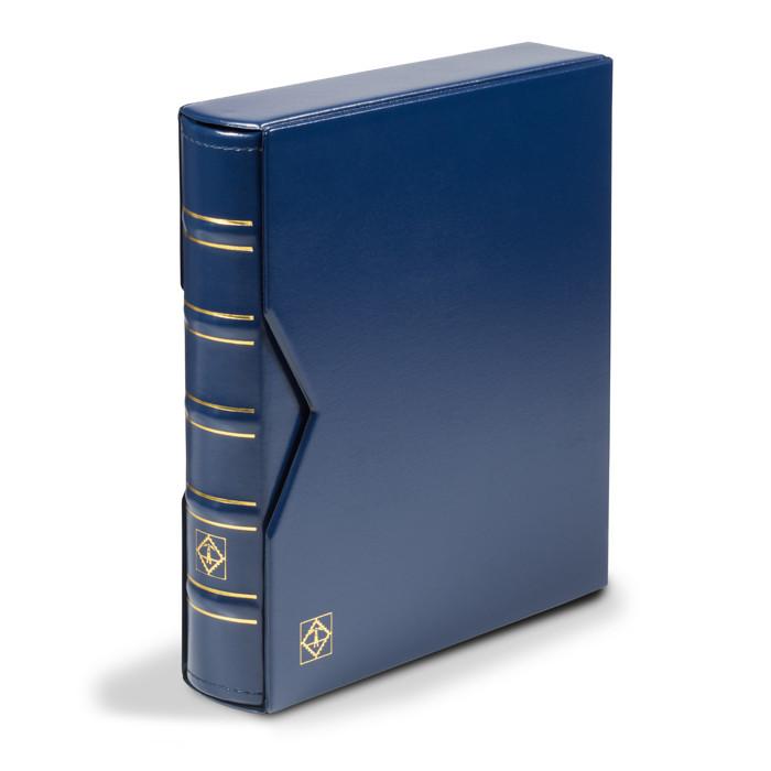 Альбом для монет Leuchtturm, OPTIMA c футляром на 304 монеты, синий