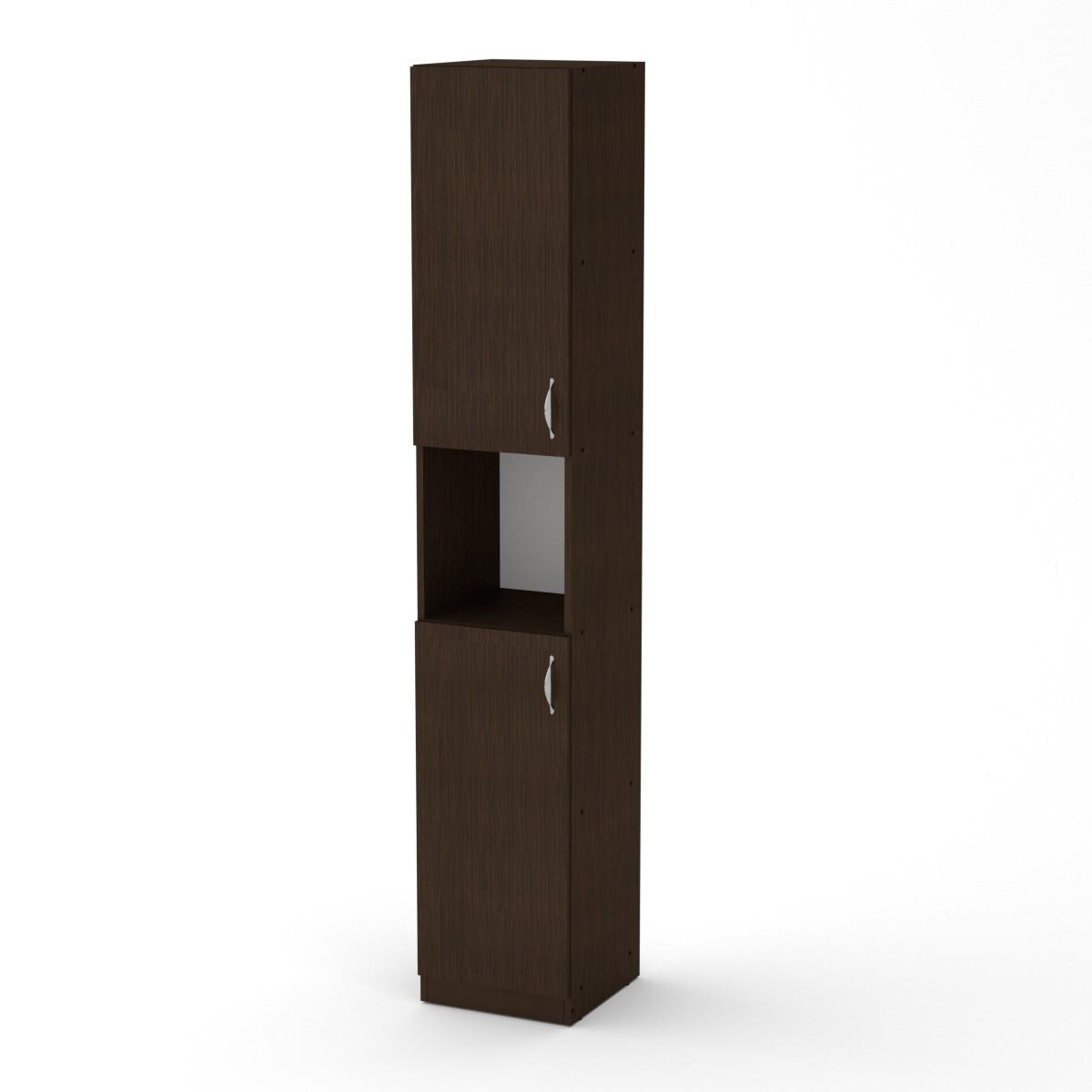 Шкаф книжный КШ-10 венге темный Компанит (35х37х195 см)