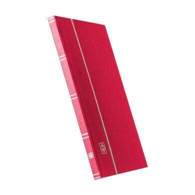 Альбом Leuchtturm для марок (кляссер) с 8 листами из черного картона, А4,красный