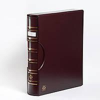 Альбом Leuchtturm, GRANDE для монет в холдерах или банкнот, с футляром,окошком, красный