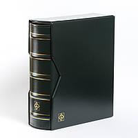 Альбом Leuchtturm, OPTIMA большой вместимости (до 80 листов) для монет или банкнот, с футляром,зеленый