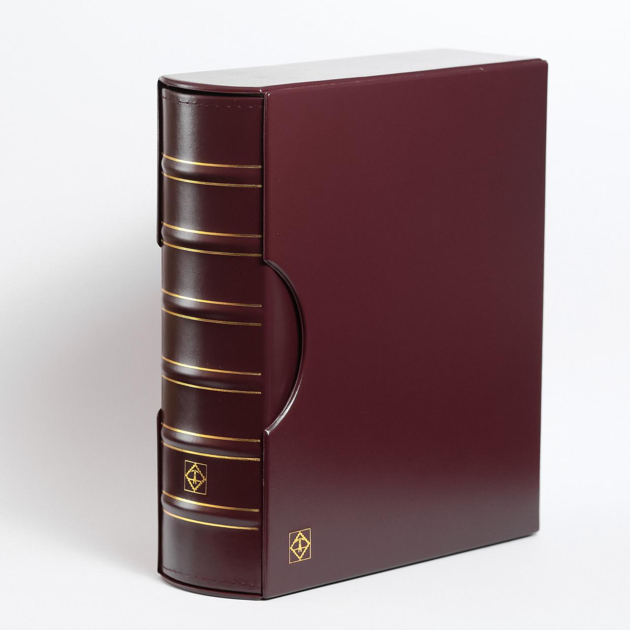 Альбом Leuchtturm, GRANDE GIGANT для монет в холдерах или банкнот, с футляром, красный