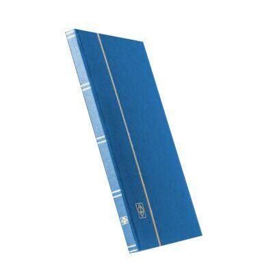 Альбом Leuchtturm для марок (кляссер) с 8 листами из черного картона, А4, синий