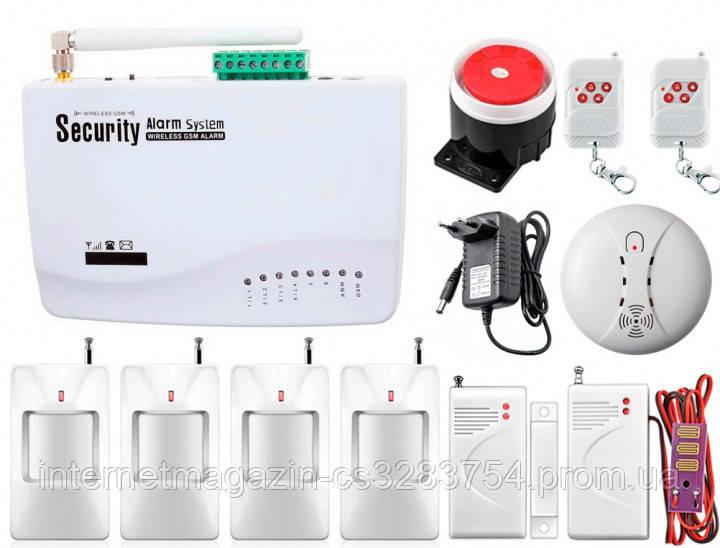 Комплект беспроводной GSM сигнализации Kerui G01 Pro для 3-комнатной квартиры (GSMYYF78FDJNFD)