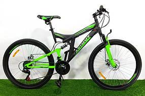 """Підлітковий гірський велосипед Azimut Power 24 розмір рами 17""""GD BLACK-GREEN"""