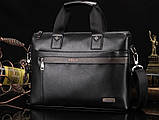 Мужская сумка-портфель Polo под формат А4. Черная   КС32-1, фото 2