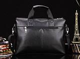 Мужская сумка-портфель Polo под формат А4. Черная   КС32-1, фото 3
