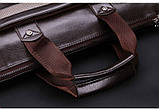 Мужская сумка-портфель Polo под формат А4. Черная   КС32-1, фото 4