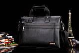 Мужская сумка-портфель Polo под формат А4. Черная   КС32-1, фото 6
