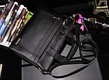 Мужская сумка-портфель Polo под формат А4. Черная   КС32-1, фото 7