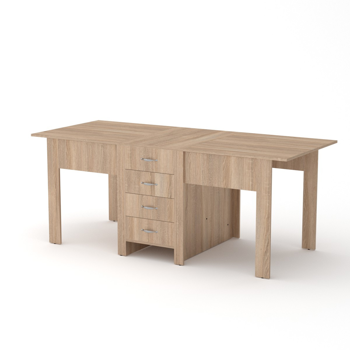 Стол книжка 3 дуб сонома Компанит (190х53х75 см)