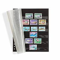 Лист Leuchtturm Omega к альбому GRANDE, для марок, 6 полосок, черный