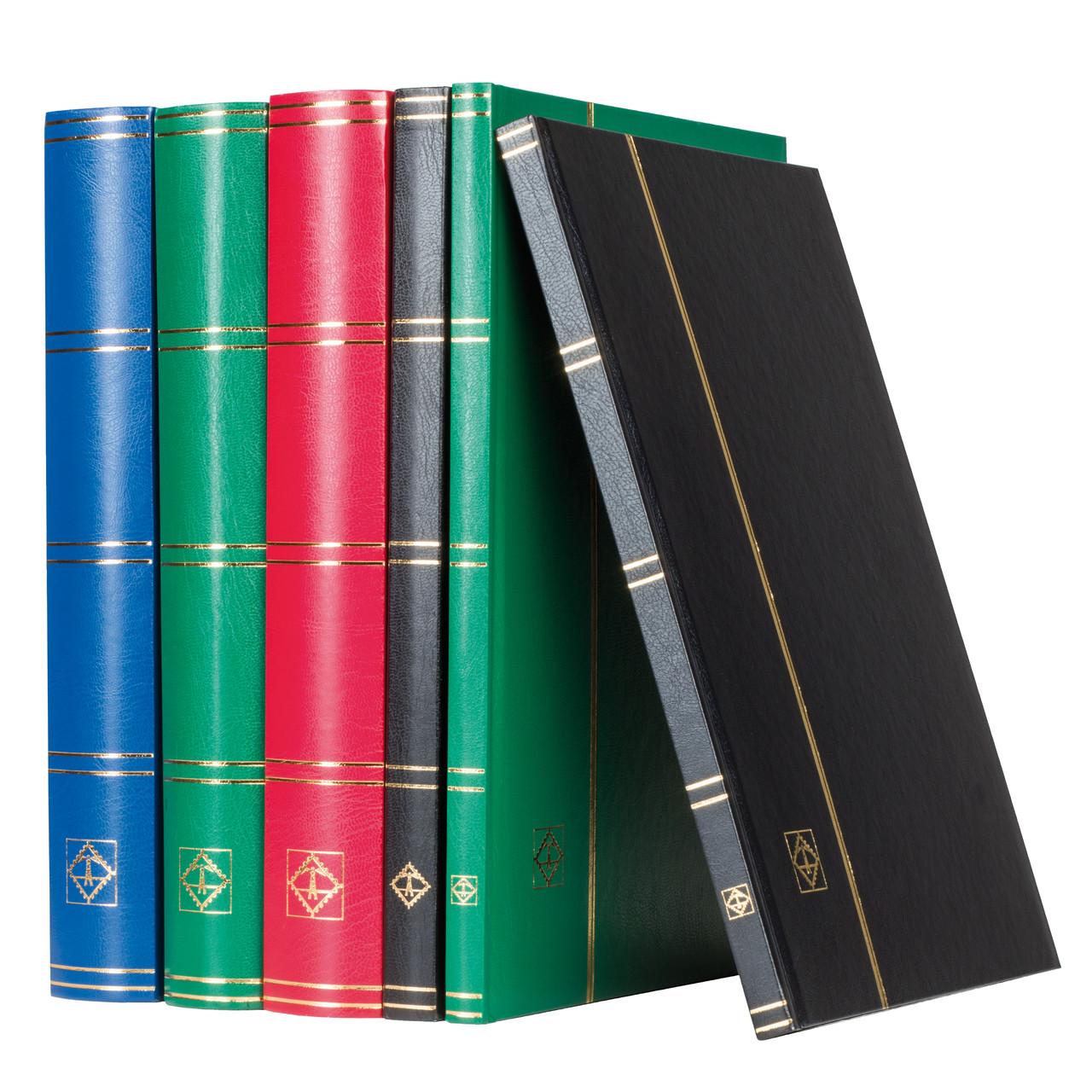 Альбом Leuchtturm для марок (кляссер) с 32 листами из черного картона, А4, красный
