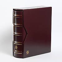 Альбом Leuchtturm, OPTIMA большой вместимости (до 80 листов) для монет или банкнот, с футляром, красный