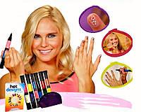 Набор для дизайна росписи ногтей Hot Designs Nail Art Pens 2в1, фото 1