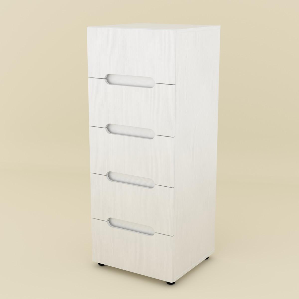 Комод МС-8 белый Компанит (50х46х127 см)