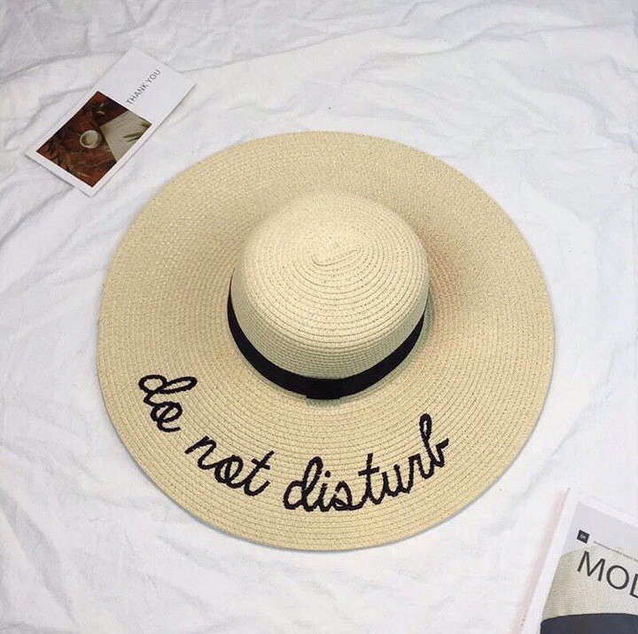 Шляпа женская пляжная Do not disturb