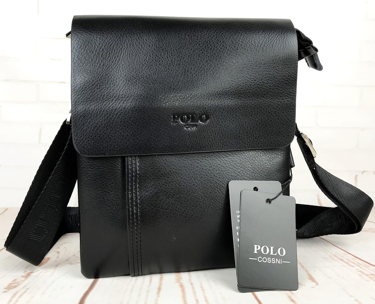 Небольшая мужская сумка - планшет Polo с ручкой.Мужская барсетка. Размер 23*18,5 см  КС43