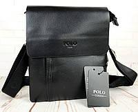Небольшая мужская сумка - планшет Polo с ручкой.Мужская барсетка. Размер 23*18,5 см  КС43, фото 1