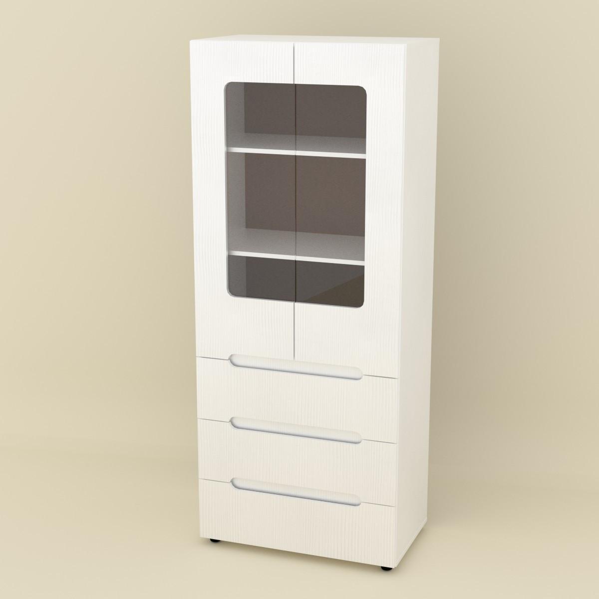 Шкаф книжный МС-21 белый Компанит