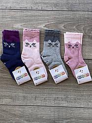Дитячі підліткові шкарпетки бавовна Kidsbella для дівчаток 5-6 років 12 шт в уп мікс 4 кольорів