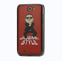 Чехол накладка пластиковый на на Samsung Galaxy Note II N7100 Gangnam Style, красный