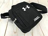 Спортивная сумка-барсетка через плечо Under Armour .Тканевая сумка. КС119, фото 9