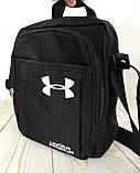 Спортивная сумка-барсетка через плечо Under Armour .Тканевая сумка. КС119, фото 10