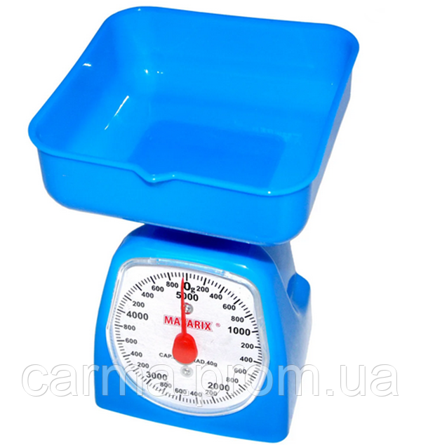 Весы кухонные MATARIX MX-405 5кг механический Синий