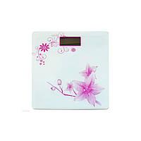 Электронные напольные весы MATARIX MX-453 Белый/рисунок