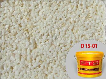 Мозаичная штукатурка FTS Decor 1,5мм D 15-01 23 кг Байрамикс (камешковая штукатурка)