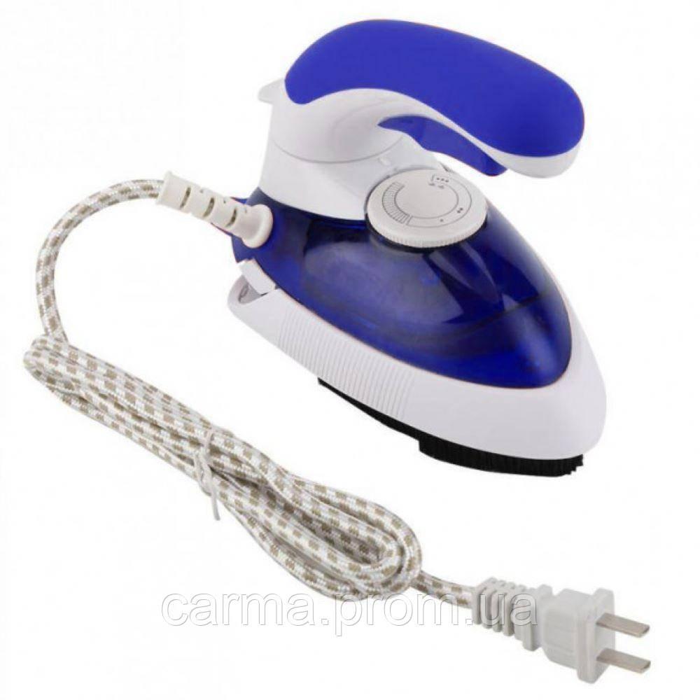 Ручной отпариватель для одежды Mini Steam Iron HT-558B Белый/Синий