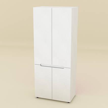 Шкаф для вещей МС-23 белый Компанит