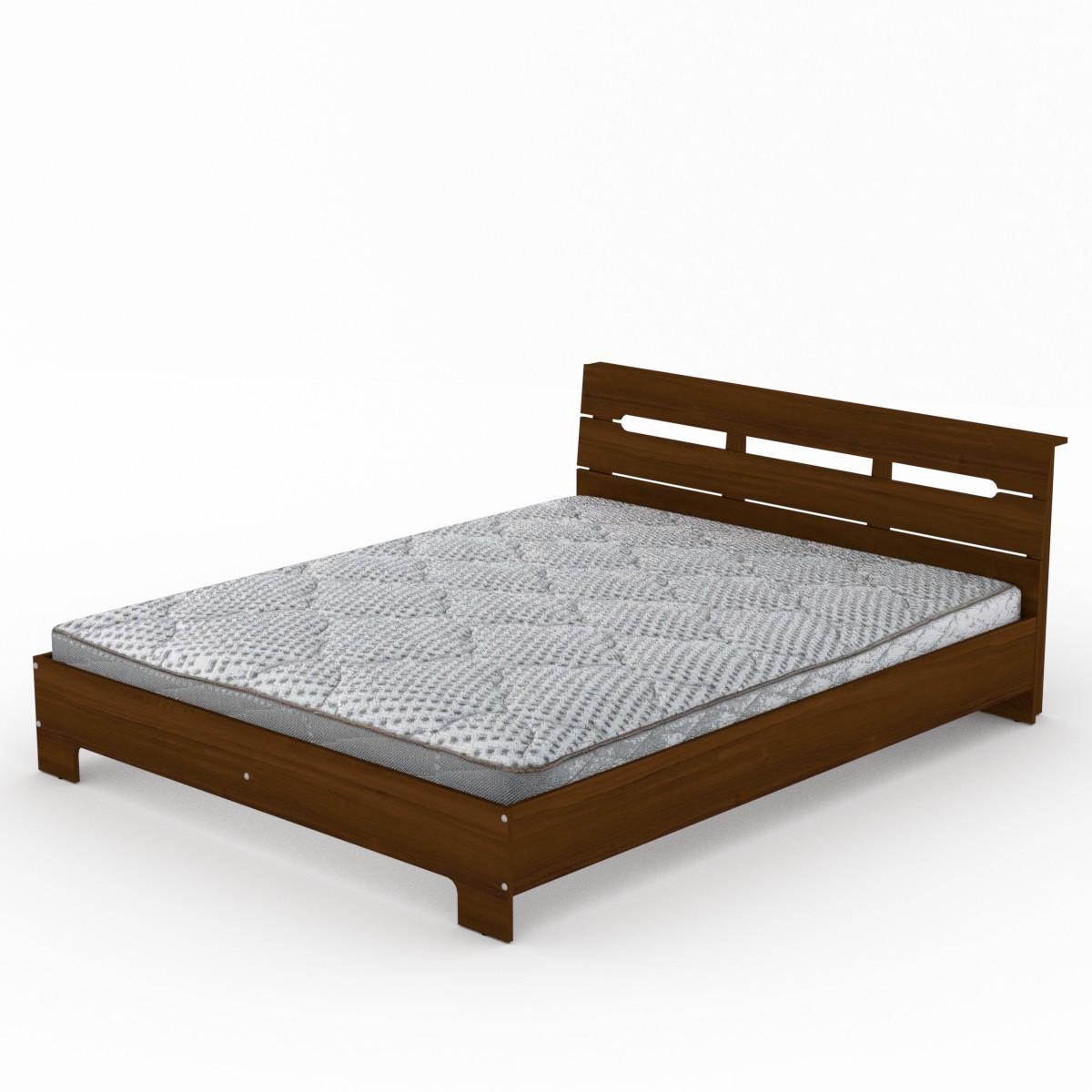 Кровать с матрасом 160 Стиль орех экко Компанит (164х213х77 см)