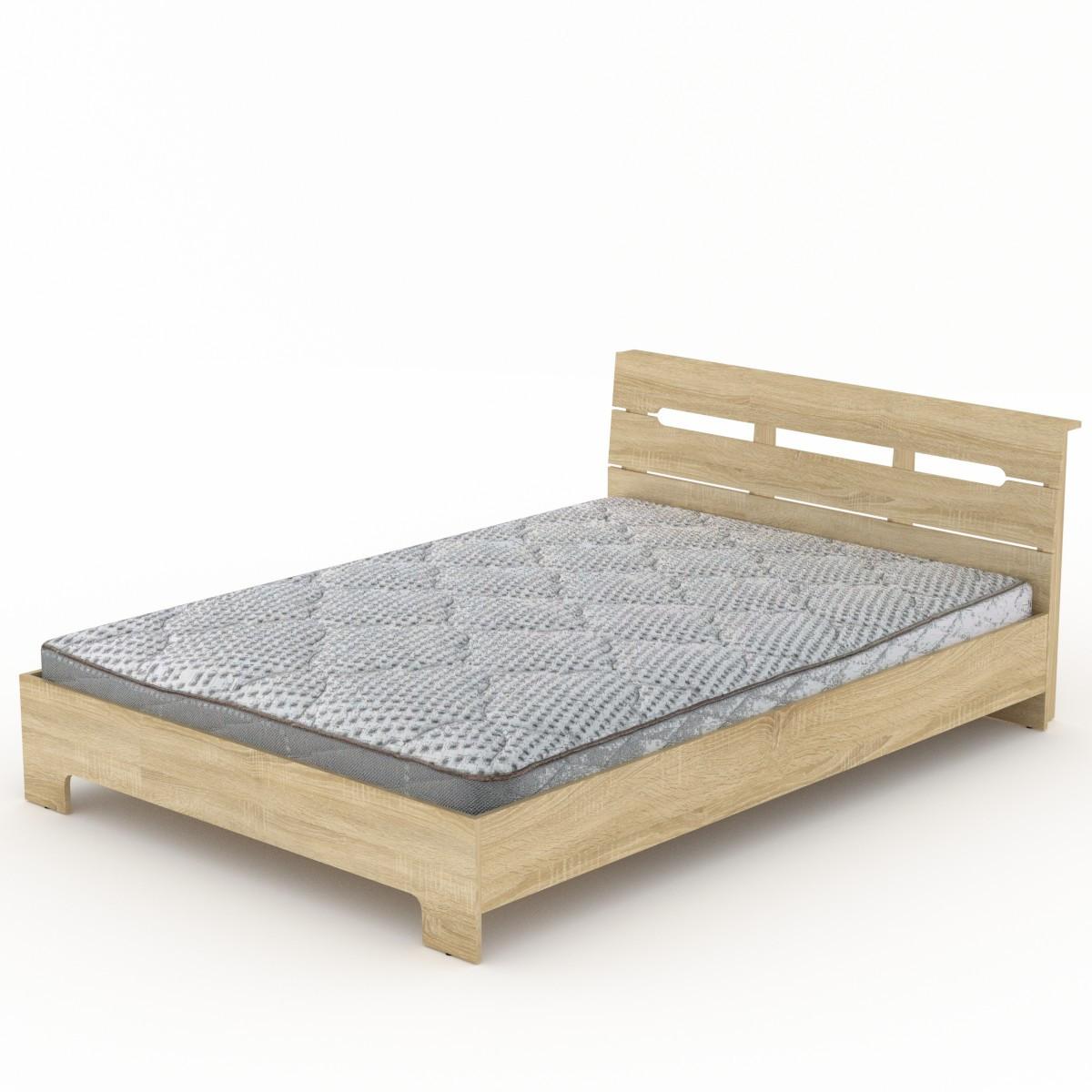 Кровать с матрасом 140 Стиль дуб сонома Компанит (144х213х77 см)