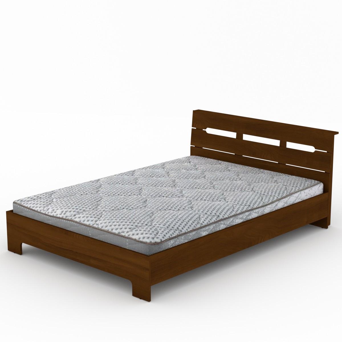 Кровать с матрасом 140 Стиль орех экко Компанит (144х213х77 см)