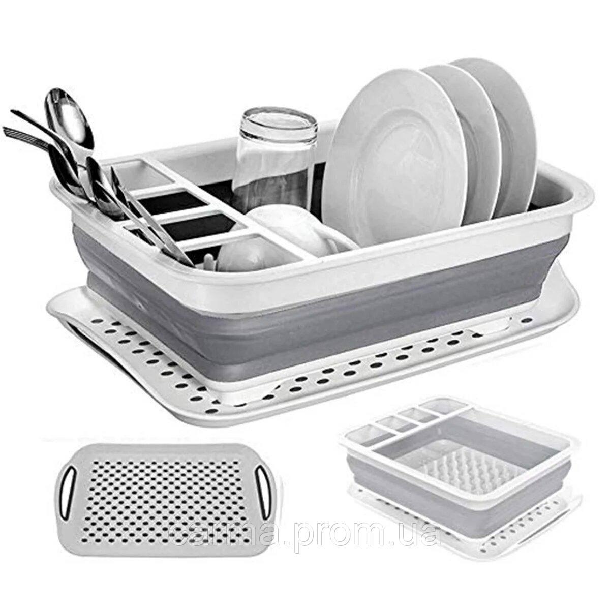 Сушилка для посуды Collapsible Drying 00085 Белый/Серый