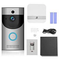 Видеодомофон SMART DOORBELL wifi B30 1080p Черный/Серебристый