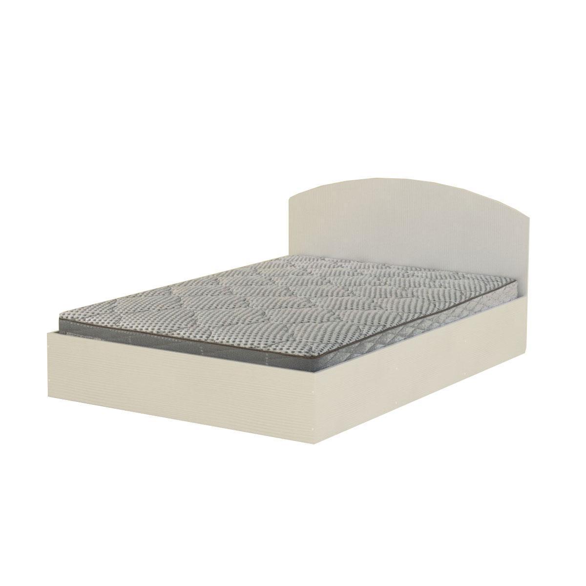 Кровать 160 белый Компанит (164х204х75 см)