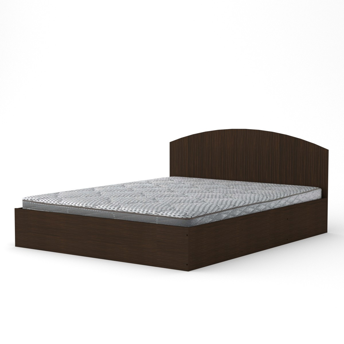 Кровать 160 венге темный Компанит (164х204х75 см)