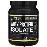 """Изолят сывороточного протеина California GOLD Nutrition, SPORT """"Whey Protein Isolate"""" без вкуса (454 г)"""