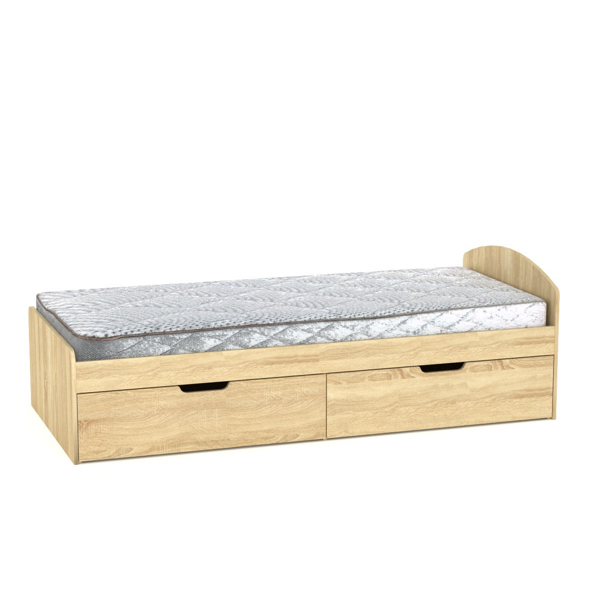 Кровать 90+2 дуб сонома Компанит (94х204х95 см)