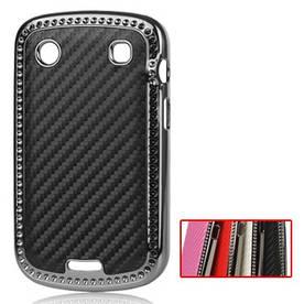 Чехол накладка для BlackBerry Bold 9900 / 9930, карбон