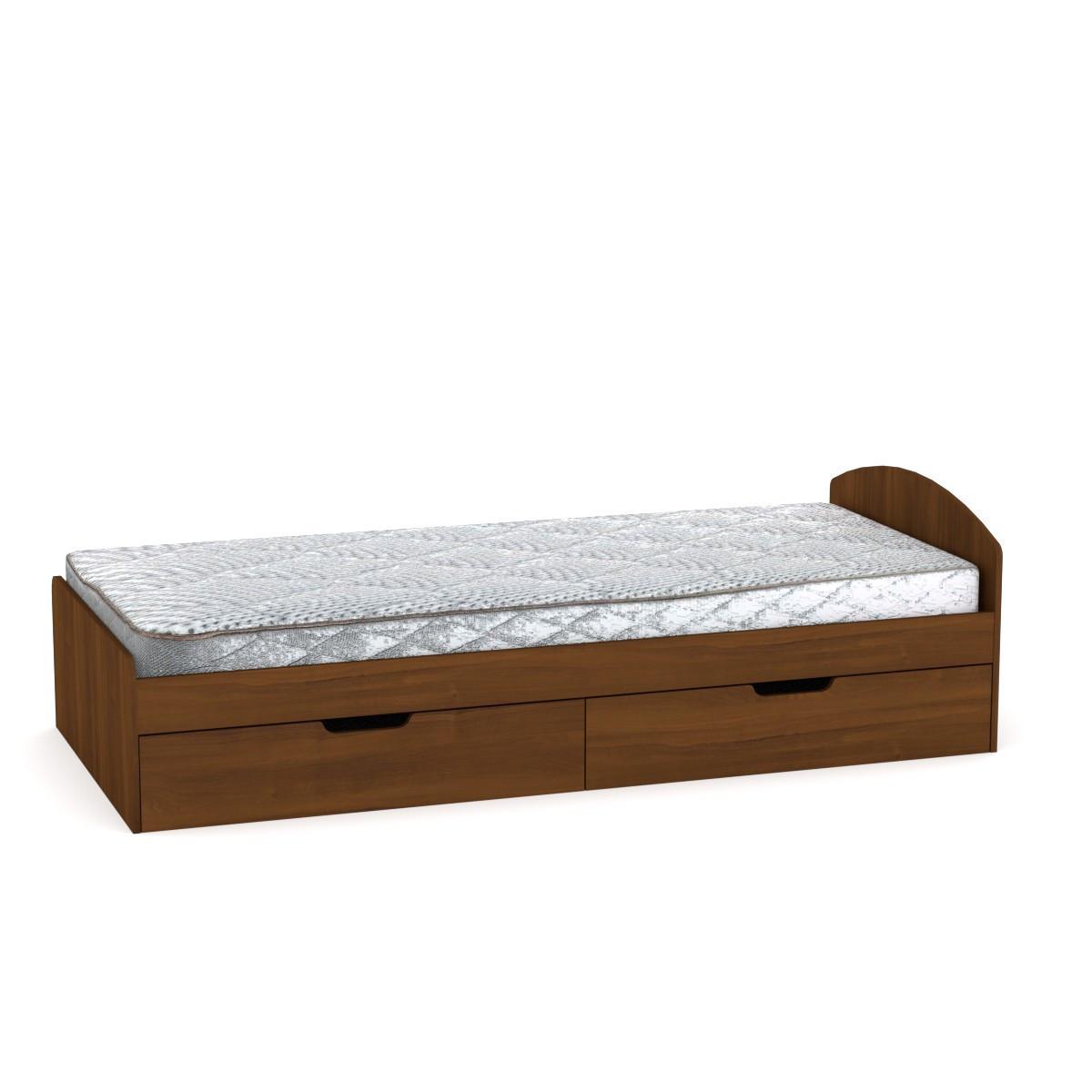 Кровать 90+2 орех экко Компанит (94х204х95 см)