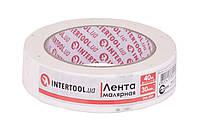 Лента малярная Intertool 30 мм x 40 м Белая 000060304, КОД: 1169113