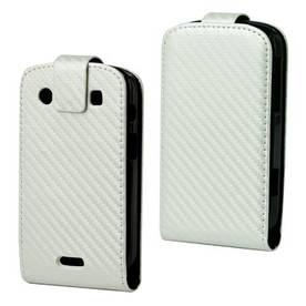 Чохол книжка для BlackBerry Bold 9900 / 9930, білий карбон