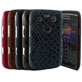 """Чехол накладка для Blackberry Bold 9700 9780 9020, """"змеиная кожа"""" (Белый, золотистый, бордовый)"""
