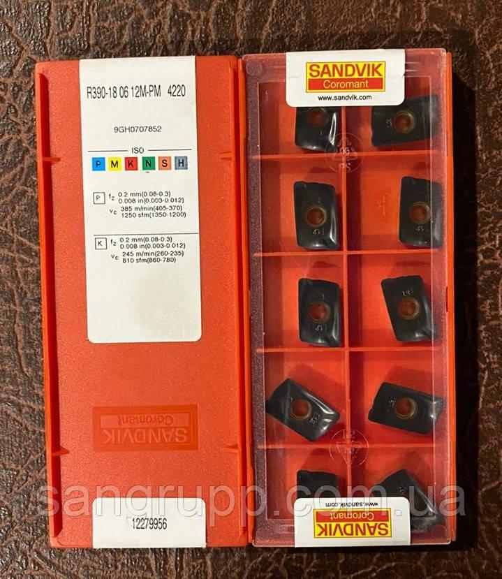Твердосплавна Пластина SANDVIK R390 180612M-4220 PM
