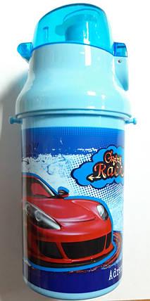 """Бутылка для воды с трубочкой 13011 """"Sport car"""" 550 мл, фото 2"""