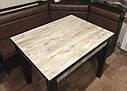 Стол кухонный раскладной обеденный Марсель 90(+35+35)*70  венге - Дракар, фото 7